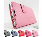 for Samsung Galaxy Note 3 III Threaded Checkered Pouch Wallet Case Cover+Prytool