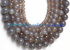 6MM 10MM 14MM 18MM 20MM ROUND GRAY AGATE BEADS STR 15""