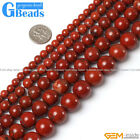"pretty round red jasper gemstone loose beads strand 15"",Jewelry Making beads"