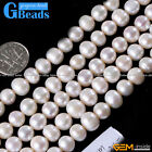 7-8mm round colourful freshwater pearl gemstone loose beads strand 15""