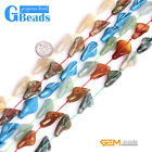 14x28mm Calla Lily Flower Shape Gemstone Loose Beads For Jewelery Making 13 Pcs