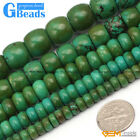 Natural Rondelle Gemstone Old Turquoise Jewelry Making Loose Beads strand 15""
