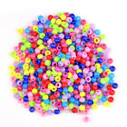 New 50g/100g 8mm  Mixed Color Smooth Plastic Round Beads Big Hole Spacer Beads
