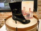 Diego Di Lucca Black Patent & Croc Captoe Ankle Boots NEW