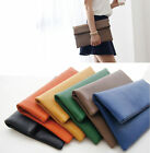 NEW 341 Vivid Simple Large Oversized Foldover Clutch Evening Bag