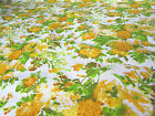 White Yellow Floral Flower Poly Cotton Dress Fabric 112cm Wide Craft Material