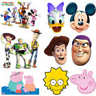 Cartoon Disney Characters Kids Party Fun Face Mask Childrens Birthday Card Masks