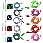 BRAiDED AND LED MiCRO USB CHARGER DATA CABLE LEAD for CITRUS WX445 and Various