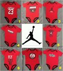 New! Air Jordan Infant Baby Boys Red One Piece Bodysuit 6-9 Months