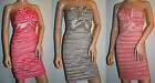 New Women's Crinkle Cocktail / Party Dress sizes 8, 10 & 12 in 3 Colours