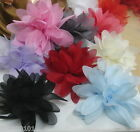 "10-50 pcs 3D Chiffon Flower Applique 75mm 3"" a118 U PICK"