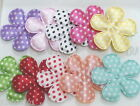 100 pcs Padded Dotted Satin Flower Applique 38mm A042 U PICK