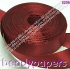 10m 22m Silky Satin Ribbon 20mm 3/4 inch Maroon Red Fabric 5206