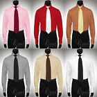 Giorgio Ferraro Six Colors All Sizes Mens French Cuff Dress Shirt Windsor Collar