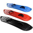 Fun Plastic Snow Board Adult / Children 8+ Adjustable Straps Black Blue Red Sled