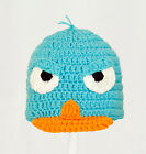 Perry the Platypus Hat from Phineas and Ferb, Crochet Agent P Beanie baby-adult