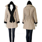 Womens Beige Trench Coat with Hood Fashion