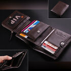 New luxury $100 Men's Top ITALIAN Genuine Leather Trifold Wallet Purse Hot Sale
