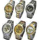 5 Design Luxury Mens Stainless Steel Quartz Wrist Watch Watches