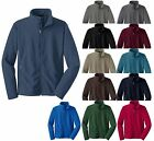 MEN'S MID-WEIGHT, ZIP UP, FLEECE JACKET, ZIPPERED POCKETS, XS-XL 2X 3X 4X 5X 6X