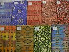 "At last!! METALLIC BATIK YARDAGE 100% cotton fabric 1 yd x 44"" wide flavor India"