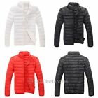 Winter Mens Zip Stand Collar Down Jacket Long Sleeve Padded Coat Cardigan Tops