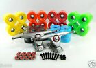 "Gunmetal 9.0"" 50 Degree Magnum V2 Longboard Trucks + 70mm Blank Pro Color Wheels"