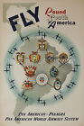 Pan Am Airline vintage retro print poster, large 4 sizes available, Airline 109
