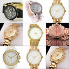 Fashion Gold Case Crystal Rhinestone Ladies Women Analog Quartz Wrist Watch New