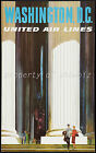 United Air Lines vintage retro print poster, large 4 sizes available, Airline156