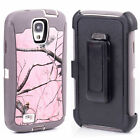 Belt Clip Shockproof Dirtproof Tree Case Camo for Samsung Galaxy S4 i9500 Pink