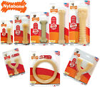 NYLABONE DURA CHEW ORIGINAL BONE DOG TOY TOUGH DURABLE STRONG RING BONE WISHBONE