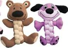 KONG Braidz Dog Puppy Toy Squeaky Rope Chew Chase Fetch Play Choose Dog or Bear