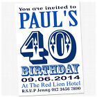 Personalised 18th 21st 30th 40th Birthday Party Invitations & Envelopes AB2