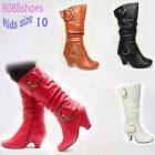 Lucky Top Gilr's Kid's Cute Buckle Zipper Dress Boot Shoes 4 Colors Size 10 NEW