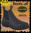 OLIVER Work Boots Blk Slip On Non Steel Toe Water Resistant NEW +WARRANTY 26620
