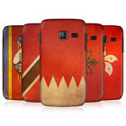HEAD CASE VINTAGE FLAGS SET 2 SNAP-ON BACK CASE COVER FOR SAMSUNG WAVE Y S5380