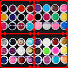 12 Color Transparent PURE BIG GLITTERY GLITTER UV GEL Extension NAIL ART Tips