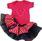 NEON TUTU SKIRT 80S FANCY DRESS PARTY MINNIE MOUSE KIDS 1-5 YEARS TODDLER GIRL