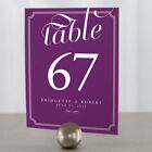 Expressions Wedding Decoration Table Numbers Personalized Custom - 12 Colors