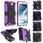 Colors Hybrid Hard Case Cover Belt Clip Holster For Samsung Galaxy Note 2 II