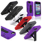 Color Hybrid Heavy Duty Case Cover Skin w/Stand For iPhone 5 5th Generation