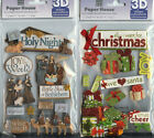 U CHOOSE  Paper House OH HOLY NIGHT  ALL I WANT FOR CHRISTMAS  3D Stickers