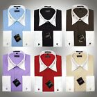 Giorgio Ferraro High Collar Clubbin' Mens Dress Shirt Saddle Stitch French Cuffs