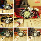 Hotsale Fashion Tower Retro Pendant Leather Weave Ladies Quartz Wrist Watch, G44