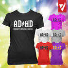 AD/HD - ADHD Female Womens Highway to Hey A Squirrel AC DC Spoof T Shirt Geeky
