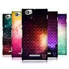 HEAD CASE PRINTED STUDDED OMBRE BACK CASE COVER FOR SONY XPERIA M C1905 C1904