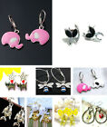 Bee fox cat ladybird elephant squirrel horse fish earrings multiple choices