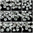 25 Pcs Silver Plated Backed Acrylic Two Hole Button Plastic Imitation Crystal ML