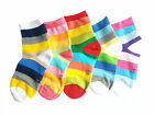 Kids Boys Girls Colourful Rainbow Stripe Socks Age 1 2 3 4 5 6 7 8 9 10 11 12
